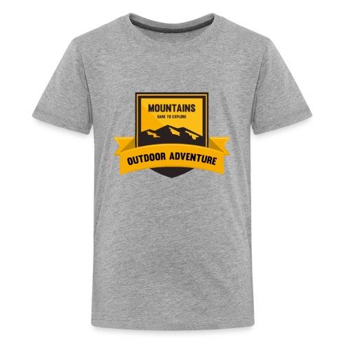 Mountains Dare to explore T-shirt - Kids' Premium T-Shirt