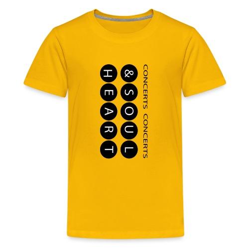 Heart & Soul concerts text design 2021 flip - Kids' Premium T-Shirt