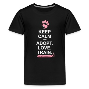 RescueDogs101 Keep Calm - Kids' Premium T-Shirt