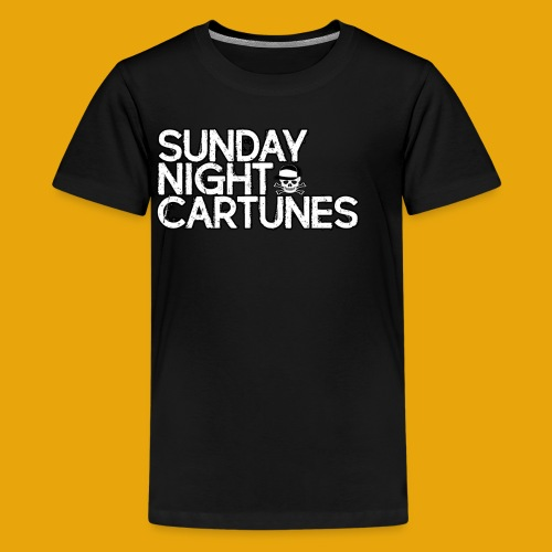 Sunday Night Cartunes Skull - Kids' Premium T-Shirt