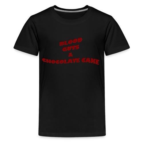 Blood,guts and chocolate cake - Kids' Premium T-Shirt