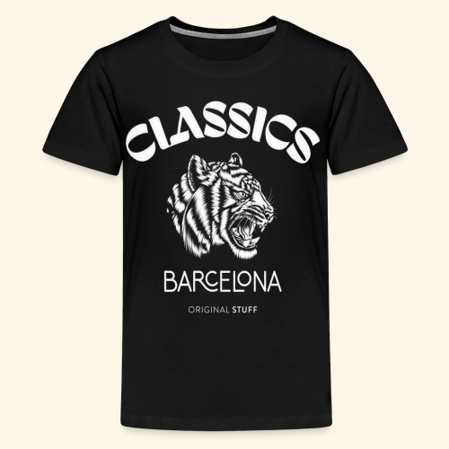 tiger classic barcelona original stuff - Kids' Premium T-Shirt