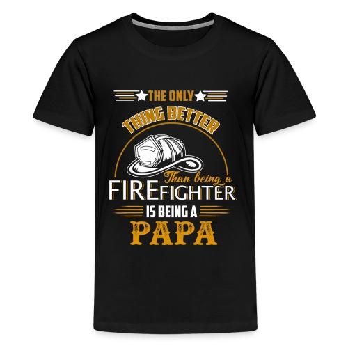 Firefighter gifts t shirt - Firefighter papa tee - Kids' Premium T-Shirt