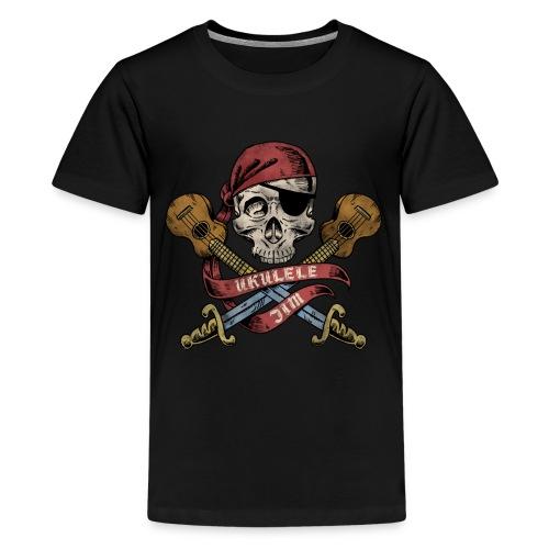 Ukulele Jim Pirate - Kids' Premium T-Shirt