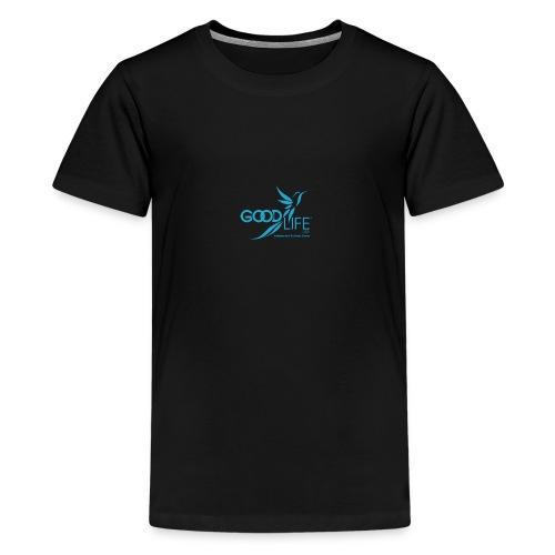 GOODLIFE USA IBO Logo v3 400px LtBlue - Kids' Premium T-Shirt