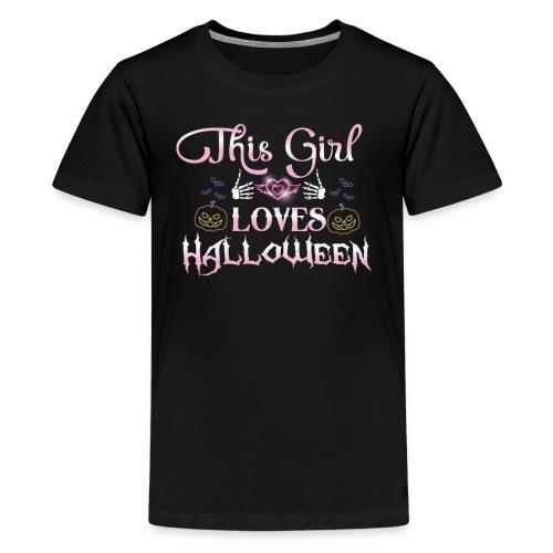 This girl loves halloween - Kids' Premium T-Shirt