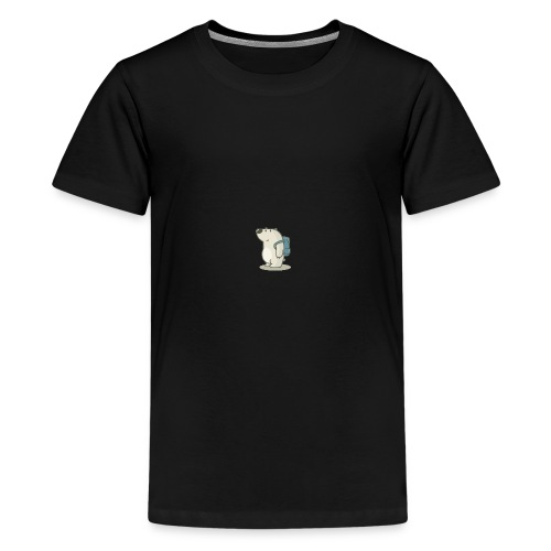 polar bear with backpack by radu191289 d3a1n08 1 - Kids' Premium T-Shirt