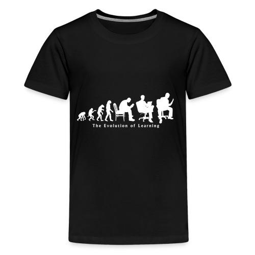 Learning_Evolution_White - Kids' Premium T-Shirt