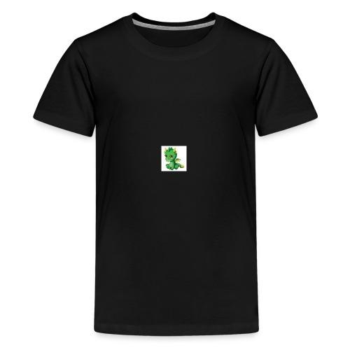 Sad Cartoon Dragon - Kids' Premium T-Shirt