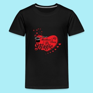 African American Mother's Day Magic (Red Rose) - Kids' Premium T-Shirt