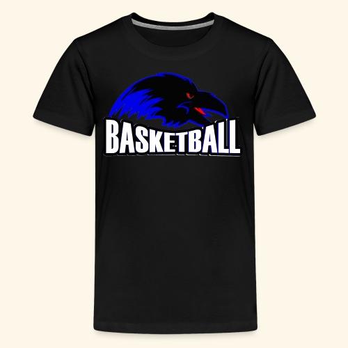 Ravens Logo w/ Basketball worded under logo - Kids' Premium T-Shirt