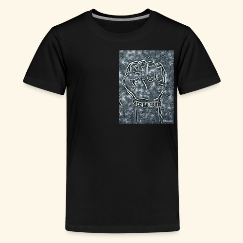 black all be free fist - Kids' Premium T-Shirt