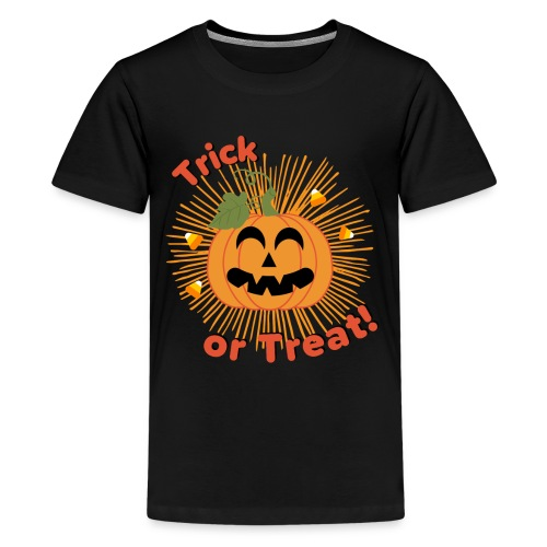 Halloween Trick Or Treat Jack-O-Lantern Pumpkin - Kids' Premium T-Shirt
