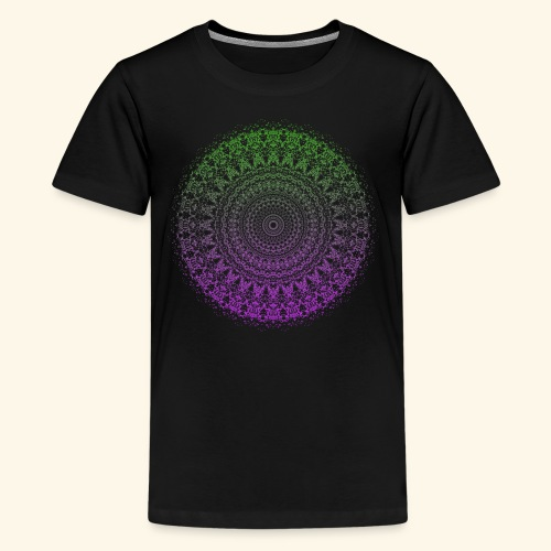 Green / Purple Mandala - Kids' Premium T-Shirt