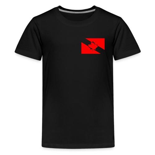 Clear White Dive Canada v. Small - Kids' Premium T-Shirt