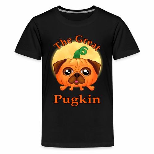The Great Pugkin Halloween T-Shirt - Pug Shirt - Kids' Premium T-Shirt