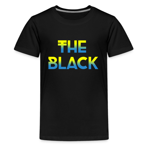 The Black Logo [Blue and Yellow] - Kids' Premium T-Shirt