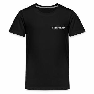 FreeFotoz.com in white - Kids' Premium T-Shirt
