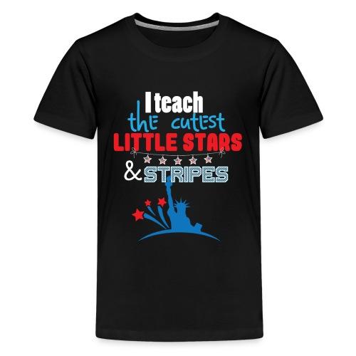 th Of July Teacher American Flag Teaching Gift - Kids' Premium T-Shirt