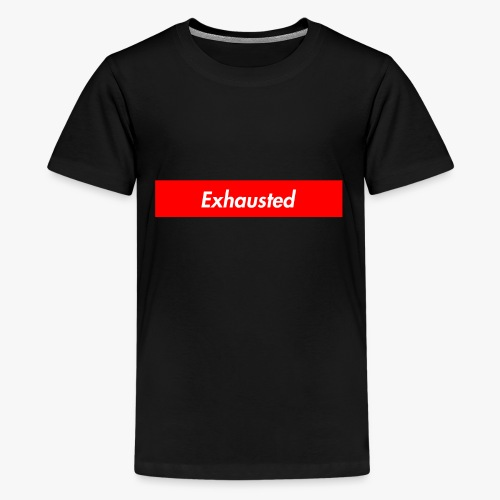 exhausted supreme logo - Kids' Premium T-Shirt