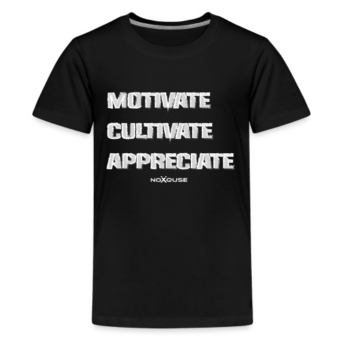 Motivate Cultivate Appreciate - Kids' Premium T-Shirt