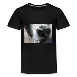 Adorable kitty staring positive messages - Kids' Premium T-Shirt
