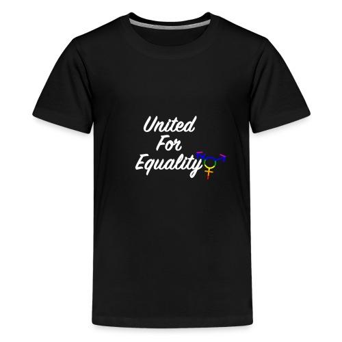 White United For Equality Logo - Kids' Premium T-Shirt