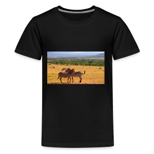 Kenya zebras - Kids' Premium T-Shirt