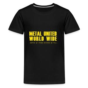 Metal United World Wide (yellow) - Kids' Premium T-Shirt