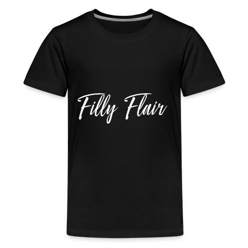 fillyflair white logo - Kids' Premium T-Shirt