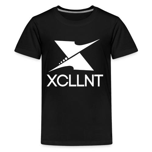 Xcllnt Logo White - Kids' Premium T-Shirt
