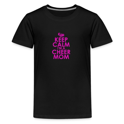 keep calm i m a cheer mom humour logo - Kids' Premium T-Shirt