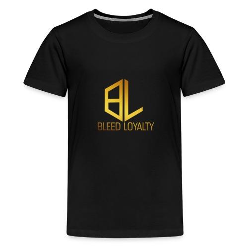 Bleed Loyalty Gold Logo - Kids' Premium T-Shirt