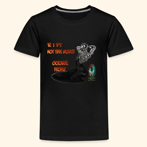 SKULL AND BONES METAL WOMAN - Kids' Premium T-Shirt