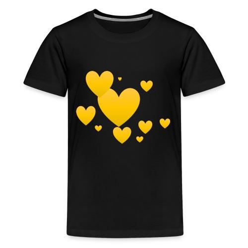 Yellow hearts - Kids' Premium T-Shirt