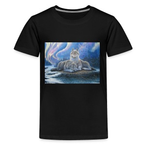 WOLVES OF THE NORTHERN LIGHTS - Kids' Premium T-Shirt