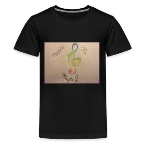 Rainbow Music Note - Kids' Premium T-Shirt