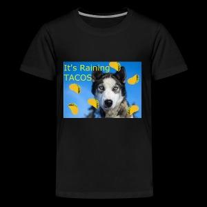 Husky and Taco Rain - Kids' Premium T-Shirt