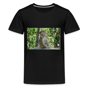 the monkey picture - Kids' Premium T-Shirt
