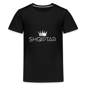 shqiptar white proud albanian king shirt - Kids' Premium T-Shirt