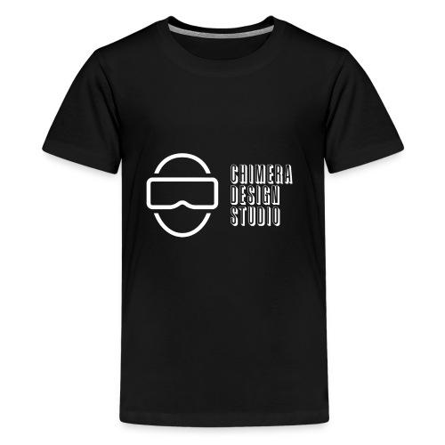 Chimera Design Studio logo white - Kids' Premium T-Shirt