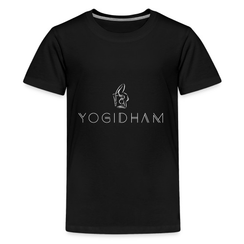 Yogidham White Logo - Kids' Premium T-Shirt