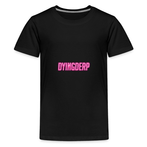 A 80's Style Text of DyingDerp - Kids' Premium T-Shirt