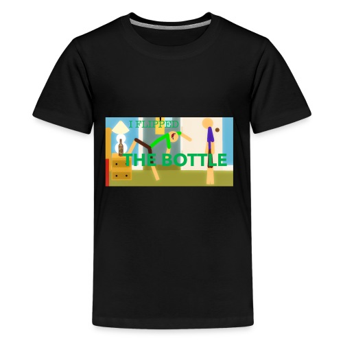 I FLIPPED THE BOTTLE PRIMARY Merch Playerparkour - Kids' Premium T-Shirt