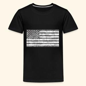 Digi-Camo American Flag - Kids' Premium T-Shirt