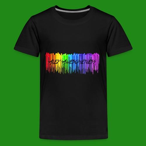 Rainbow Drip AA styled - Kids' Premium T-Shirt