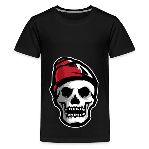 Custom Skull With Ice Cap Merch! - Kids' Premium T-Shirt