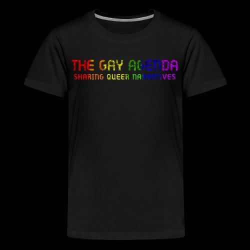 The Gay Agenda - Rainbow Paint Logo - Kids' Premium T-Shirt
