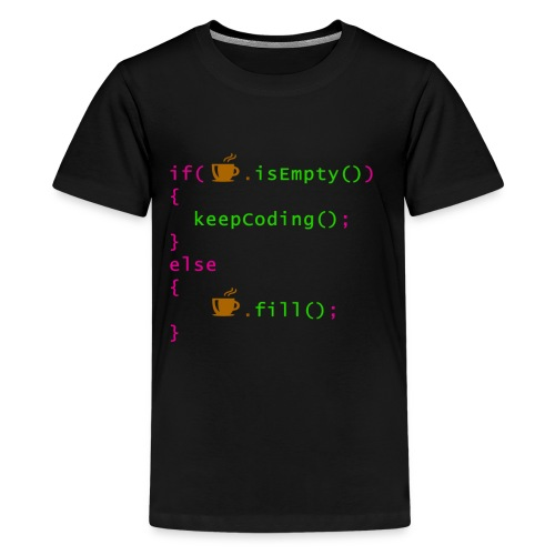 Coffee - coding syntax - Kids' Premium T-Shirt