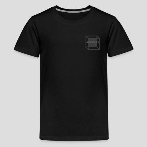 Squared Apparel Black / Gray Logo - Kids' Premium T-Shirt